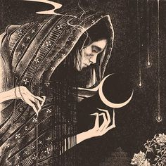 Dark illustrations inspired by myth, folklore and magick by Glyn Smyth - Glyn Smyth, also known under his brand-name Stag & Serpent, is a self-taught illustrator, designer - Illustrator, Mystique, Witch Art, Psychedelic Art, Folklore, Magick, Witchcraft Spells, Art Inspo, Fantasy Art