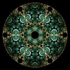 """Crop Circles"" - a Fractal Mobius Pattern by Ross Hilbert, via Fractal Science Kit"