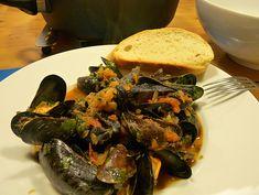 Mediterrane Muscheln, ein gutes Rezept aus der Kategorie Krustentier &…
