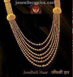 Traditional Maharashtrian jewellery collection ~ Jondhali Haar