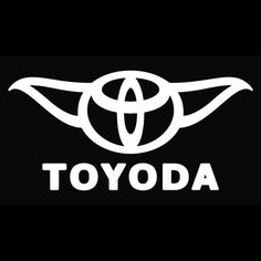 Toyoda Toyota Star Wars Vinyl Decal  @Amanda Sawyer this will go great on your new van...also with your twin babies.