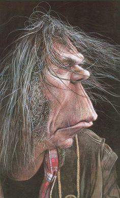 Neil Young  Artist: Sebastian Kruger  website: http://sebastian-kruger-news.blogspot.com/
