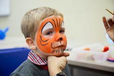 Little #Tiger #Facepainting Face Design, Full Face, Painting For Kids, Carnival, Children, Mardi Gras, Boys, Carnivals, Kids
