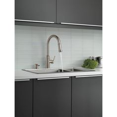 Delta Allentown Single-Handle Pull-Down Sprayer Kitchen Faucet with Soap in SpotShield Stainless-19935-SPSD-DST - The Home Depot