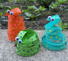 Cardboard Tube Coiled Snakes | Fun Family Crafts