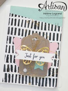 Stamp 2 LiNotte: Carte en mode papillon - Stampin'Up ! Artisan Blog Hop - Juillet #5