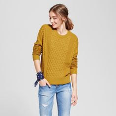 Women's Pullover Sweater - Mossimo Supply Co. Yellow Xxl