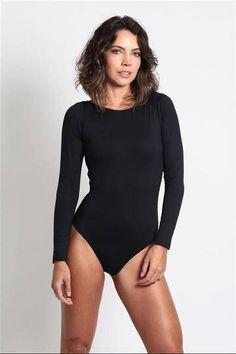 213a9daae1 One Piece Long Sleeve Swimsuit womens swimsuit brazilian Swimsuit Fabric