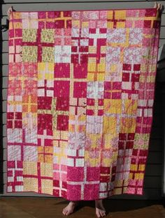 I would use more pink in quilts if my quilts could look like this.