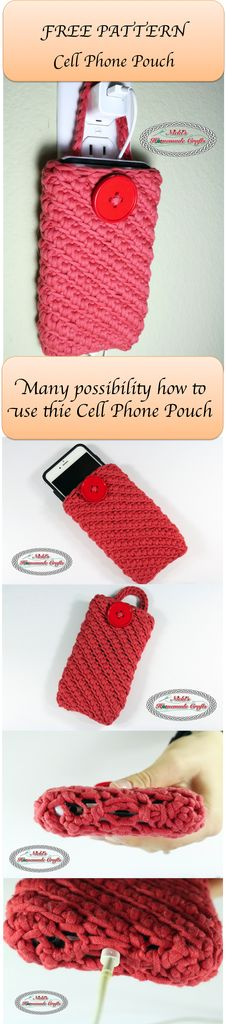 Cell Phone Pouch Crochet Pattern - FREE PATTERN