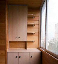 Шкаф со столешницей на балконе Small Balcony Decor, Deco Furniture, Garage Organization, Apartment Design, Diy And Crafts, Laundry Room, Kitchen Cabinets, Interior Design, Storage