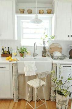 Put a shelf above the sink