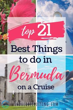 If you're planning a cruise to Bermuda and wondering where to go and what to see here are the 21 best things to do in Bermuda on a cruise. babies flight hotel restaurant destinations ideas tips Best Cruise, Cruise Port, Cruise Travel, Cruise Vacation, Solo Travel, Cruise Excursions, Cruise Destinations, Family Destinations, Packing List For Cruise