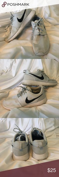 Nike Roshe sneakers Good condition. Tiny but visible marks on top but prob come out if you wash. Nike Shoes Athletic Shoes