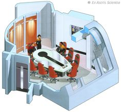 Ex. of Graphic and Industrial design Conference room - U.S.S. Voyager