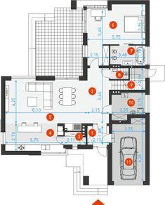 Na miarę 1 - DOMY Z WIZJĄ Dream House Plans, Floor Plans, How To Plan, Design, Cool Houses, Modern Houses, Trendy Tree, Dream Home Plans