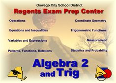 Regents Prep Center ALGEBRA2 and TRIG
