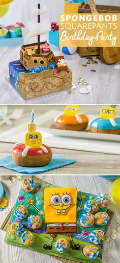 Pick out cake toppers and cupcake rings for a super cool SpongeBob birthday party