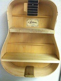 Reuse old guitar - turn it into a shelf unit