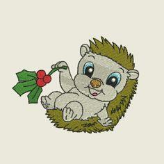Christmas time hedgehog 02 | Spookies Treasures