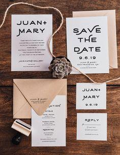 DIY Wedding Invitation Suite Stamp Set - The Stamp Foundry