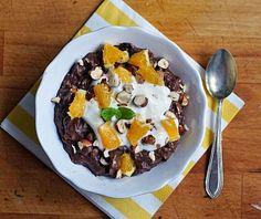 Obrázek - Ovesná Čokoládovo-Pomerančová Kaše s Ořechy Raw Vegan, Vegan Vegetarian, Vegetarian Recipes, Healthy Cooking, Cruelty Free, Acai Bowl, Oatmeal, Milk, Pudding