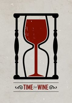 time for wine hourglass