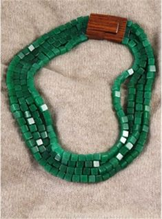 Green Jade Four Strand Necklace