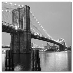 A black and white classic, the J&M Furniture Acrylic Art Brooklyn Bridge II depicts the Brooklyn Bridge lit up for the evening. The black and. Acrylic Wall Art, Acrylic Canvas, Canvas Art, Bridge Drawing, Still Photography, Contemporary Wall Art, Process Art, State Art, Viajes