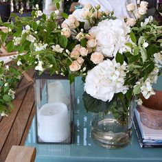 Springtime  #inspiringbeauty #floral #centerpiece #hydrangeas