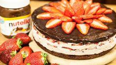 Backen: Nutella-Torte mit Erdbeeren - genial gut! - BRIGITTE