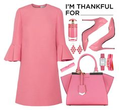 """I'm Thankful For My Parents"" by pinkyrachyyy ❤ liked on Polyvore featuring Valentino, Fendi, Marco Barbabella, Hermès, Gemma Simone, NYX and Prada"
