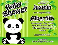 Baby Shower Osito Panda Baby Shower Oso, Panda Birthday Party, Baby Shower Invitaciones, Baby Shawer, Ideas Para, Diy, Party Ideas, Invitation Cards, Fiestas