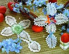 Lots of patterns for Crochet crosses and many, many other items too. Ha! I could not find the cross...