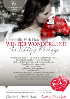 Our new amazing winter wonderland wedding package...including snow!!