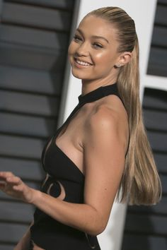 Gigi Hadid's sky high ponytail. See 9 other celebrities whose late-winter beauty looks stunned.