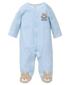 Little Me Boutique - Chevron Bear Footie, $16.00 (http://www.littleme.com/chevron-bear-footie/)