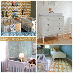 Nursery Decorating Ideas for Chic Stenciled Nurseries