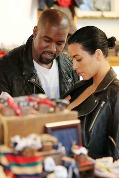 Kim Kardashian and Kanye West are spotted shopping for baby clothes in NYC on Monday.   - HarpersBAZAAR.com