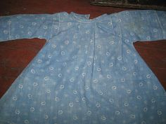Early Blue Calico Doll Dress.....