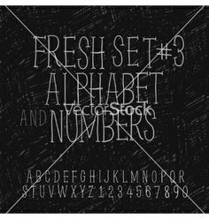 Set of hand drawing alphabet and numbers vector by ikopylov on VectorStock®