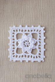 Motif Inspiration: Crochet lace motif nr 5 by Anabelia Thread Crochet, Filet Crochet, Irish Crochet, Crochet Motif, Crochet Doilies, Crochet Flowers, Crochet Lace, Crochet Stitches, Crochet Square Patterns
