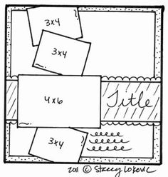 Scrapbook Layout Idea #scrapbooklayouts