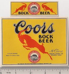 IRTP Colorado Adolph Coors Co Golden Bock Beer 12 Fl Oz Mint condition