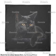 Black Cat (2 sides) Queen Duvet Cover