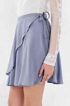 Kimchi Blue Ballet Wrap Mini Skirt - Urban Outfitters