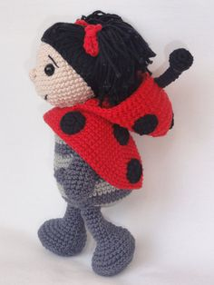Amigurumi Crochet Pattern - Dotty the Ladybug This is a crochet pattern and not the toy. Following this pattern Dotty the Ladybug will be approximately 24cm. The pattern is available in English. More photos available on Facebook: https://www.facebook.com/media/set/?set=a.595063720504148.1073741848.550384588305395&type=3 Or check out IlDikko website: http://ildikko-crochet.com After completion of your order the PDF file containing the patte...