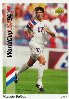 Marcelo Balboa of USA. 1994 World Cup Finals card.
