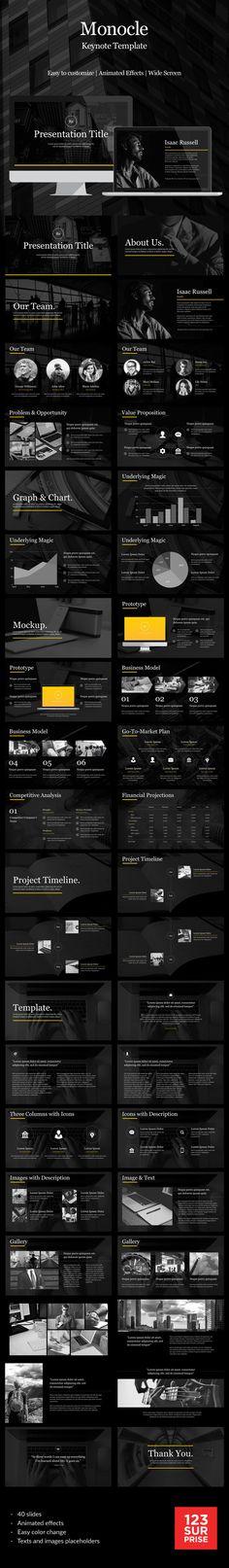 Monocle Keynote Template #design #slides Download: http://graphicriver.net/item/monocle-keynote-template/14365198?ref=ksioks