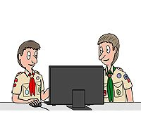 Scouts Using the Internet Cartoon - Courtesy of Richard Diesslin - Click to See More Cartoons